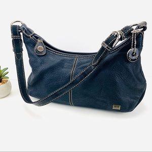 The Sak Leather Hobo Top Zipper Shoulder Bag